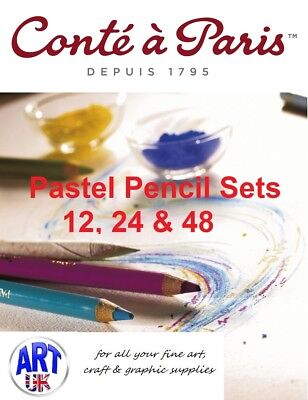 Conte a Paris Artists soft PASTEL PENCIL SETS 12, 24 & 48 colour sketch/drawing