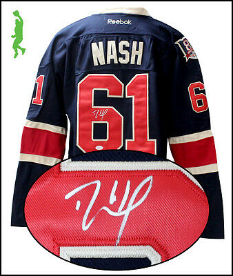 Rick Nash Autographed Signed New York Rangers Hockey Jersey Nhl Jsa Coa