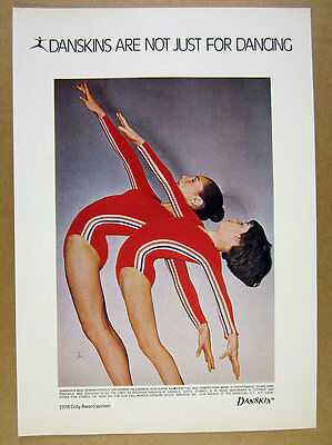 1978 Danskins Leotards gymnasts photo vintage print Ad