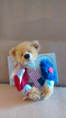 Deb Canham Special 911 Limited Edition Signed Jointed Patriotic Bear Pin 2001