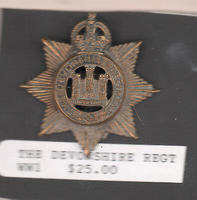 The Devonshire Regt  foreign insignia