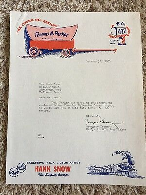 1955 Colonel Tom Parker Hank Snow Attractions (2)  Letters