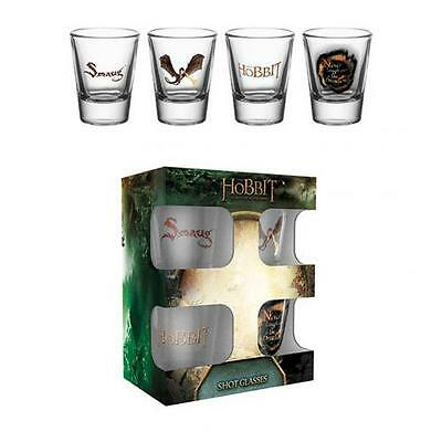 The Hobbit 4pk Shot Glass Set Official Merchandise