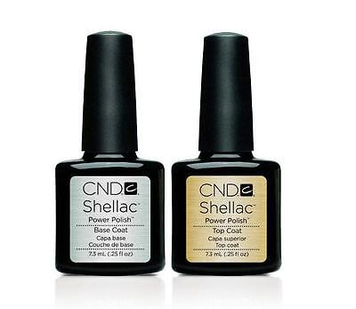 CND Shellac UV Gel Nail Power Polish, Top Coat  and  Base Coat  UV Gel Nail