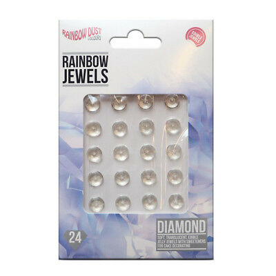 Rainbow Dust DIAMOND Edible Jelly Jewels for Cup Cake Sugarcraft Decoration