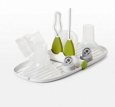 OXO Tot Breast Pump Parts Compact Drying Rack With Detail Brushes
