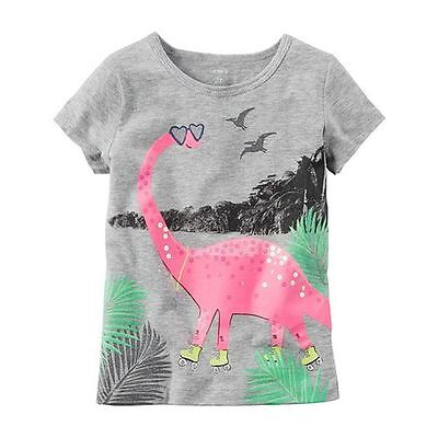 New Carter's Pink Dinosaur Sparkle Glitter NWT 2t 3t 4t 5t 4 5 6 7 8 Girls Top