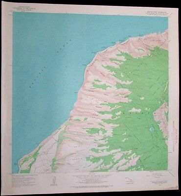 Makaha Point Hawaii Puu Ka Pele Forest Reserve vintage 1967 old USGS Topo chart