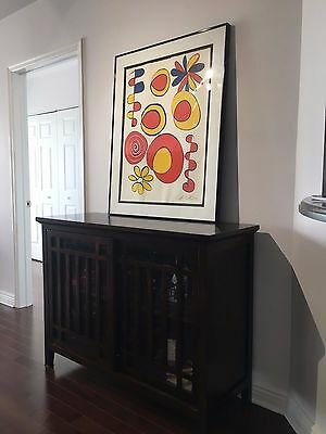 Alexander Calder Pencil Signed Large Lithograph on Arches, with COA Original
