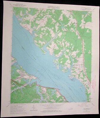 Clay Bank Virginia York River US Naval Weapons Station 1967 old USGS Topo chart