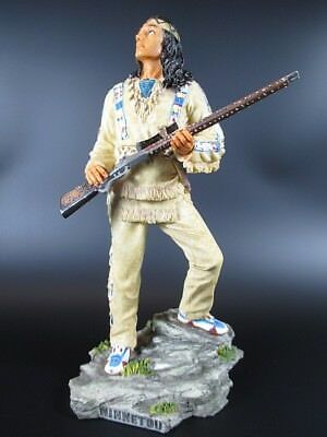 Winnetou Apache with Silver rifle 26 cm Figure,Veronese Collection,Karl May
