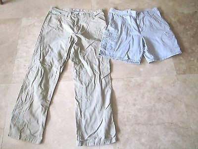 Lot,2 mens size 38x32 Columbia khaki pants, shorts