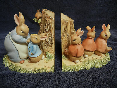 Charente World Of Beatrix Potter Peter Rabbit And Friends Book Ends 1994
