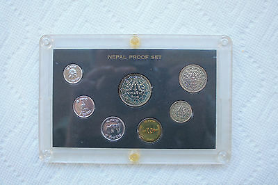 Nepal Proof Coin Set from 1974 (7 coins)