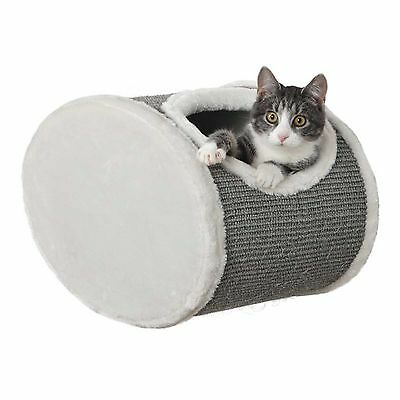 Cat Den Wall Mounted Bed Luxury Plush Sharpen Claws Sisal Covered Scratch Kitten