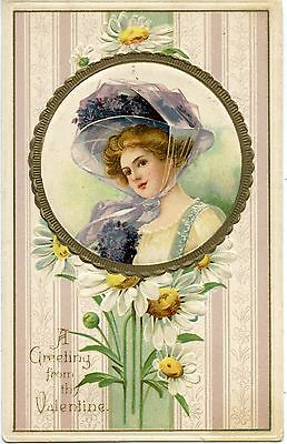 Postcard /  Carte Postale / Gaufree / A Greeting From Thy Valentine