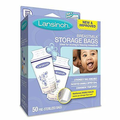 Lansinoh Breast Milk Storage Bags 50-Count Great Value! New UK SELLER