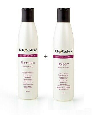 Perücken Set Shampoo + Balsam je 200ml Dening Synthetik Belle Madame Kunsthaar