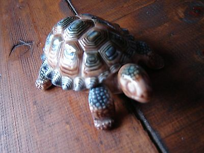 """Wade whimsies tortoise trinket box. 4"""" long and sitting wolf 1.5"""" tall"""