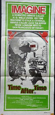 Time After Time Original 1979 Daybill Poster Malcolm Mcdowell David Warner