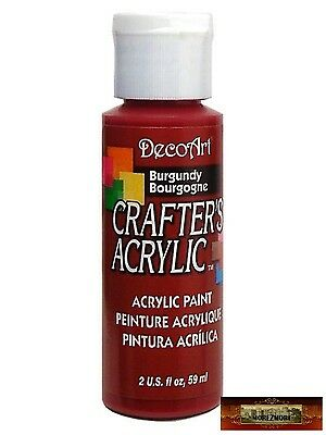 M01420 MOREZMORE DecoArt BURGUNDY RED Crafter's Acrylic All Purpose Paint DSI