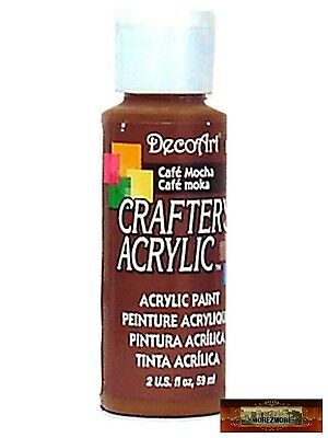 M01424 MOREZMORE DecoArt CAFE MOCHA BROWN Crafters Acrylic All Purpose Paint IZB