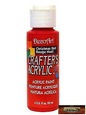 M01426 MOREZMORE DecoArt CHRISTMAS RED Crafter's Acrylic All Purpose Paint DSI