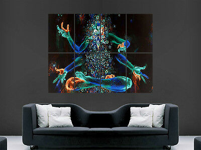 Trippy Abstract Poster Religion Art Abstract Colours Giant Wall Picture Print