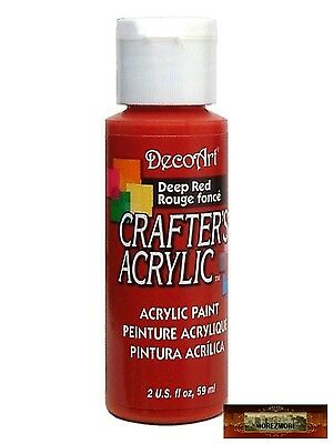 M01436 MOREZMORE DecoArt DEEP RED Crafter's Acrylic All Purpose Paint DSI