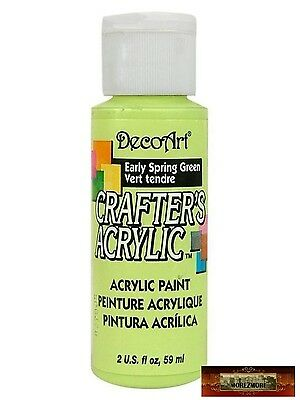 M01437 MOREZMORE DecoArt EARLY SPRING GREEN Crafter's Acrylic Craft Paint A60