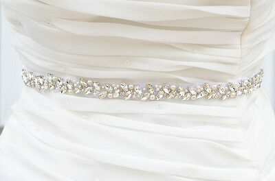 Wedding Belt, Bridal Belt, Sash Belt, Crystal Rhinestones sash belt, Party Sash,