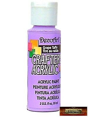 M01443 MOREZMORE DecoArt GRAPE TAFFY Purple Crafter's Acrylic Craft Paint IZB
