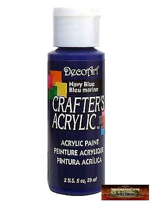 M01453 MOREZMORE DecoArt NAVY BLUE Crafter's Acrylic All Purpose Paint A60