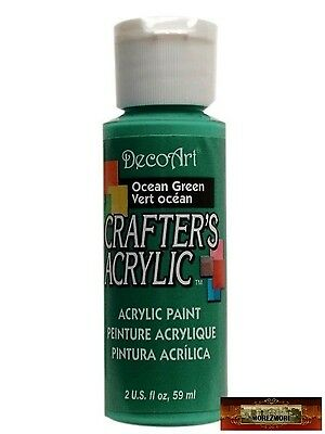 M01454 MOREZMORE DecoArt OCEAN GREEN Teal Crafters Acrylic All Purpose Paint A60