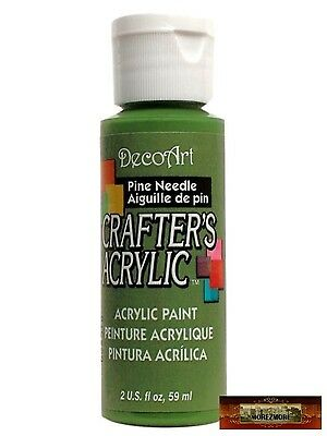 M01459 MOREZMORE DecoArt PINE NEEDLE GREEN Crafter's Acrylic Craft Paint IZB