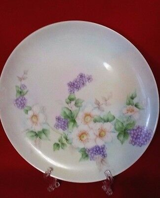 "Vintage HAND PAINTED SIGNED A. LAMONT 9 1/2"" Floral Decorator Plate GERMANY #3"