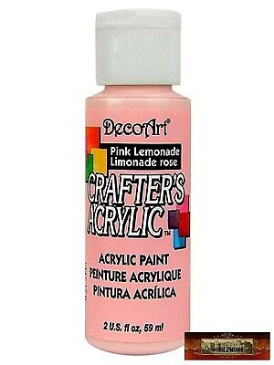 M01461 MOREZMORE DecoArt PINK LEMONADE Crafter's Acrylic All Purpose Paint IZB