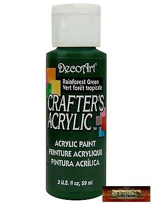 M01464 MOREZMORE DecoArt RAINFOREST GREEN Crafters Acrylic All Purpose Paint IZB