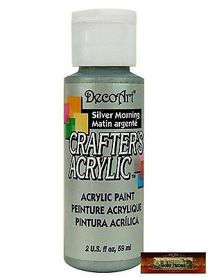 M01467 MOREZMORE DecoArt SILVER MORNING Grey Crafter's Craft Acrylic Paint A60