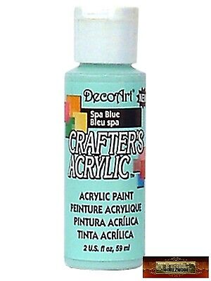 M01469 MOREZMORE DecoArt SPA BLUE Crafter's Acrylic All Purpose Craft Paint IZB