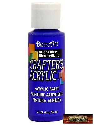 M01486 MOREZMORE DecoArt BRILLIANT BLUE Crafter's Acrylic All Purpose Paint IZB