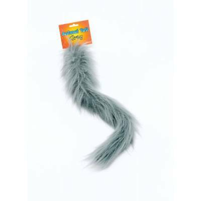 GREY Animal Tail Wolf,Mouse,Squirrel,Donkey Book Week Pet Fancy Dress