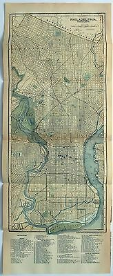 Original 1895 Street & Railroad Map of Philadelphia PA by Matthews Northrup