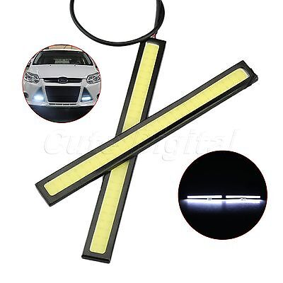 1Pair Super Bright COB White LED Lights For DRL Fog Driving Lamp Waterproof 12V