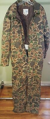 VTG TROPHY CLUB Men's Insulated Camouflage Hunting Coveralls Size Large