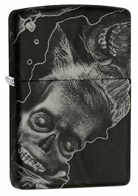 Zippo 28971, Zombie, Black Soft Touch Finish Lighter, Full Size