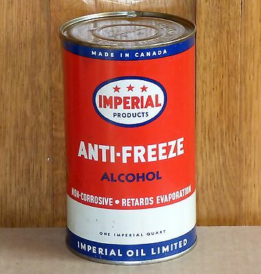 Early Canadian IMPERIAL anti-freeze 1 Imp. Qt motor oil tin can Esso FREE SHIP!