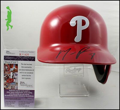 Maikel Franco Autographed Signed Phillies Full Size Batting Helmet Jsa Coa