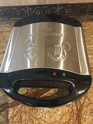 Mickey Mouse Then and Now Waffle Maker Villaware V5555-18 Used