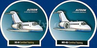 ALTEON A BOEING COMPANY DC-9 & MD80 DOUGLAS McDONNELL CERTIFIED TRAINING STICKER